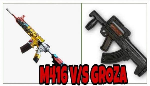 سلاح M416 یا Groza در پابجی