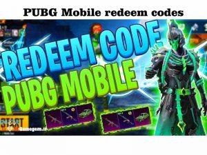 کد redeem code در پابجی موبایل