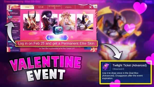 ایونت Zeal Box Valentine