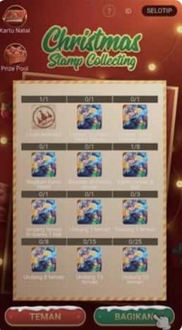 رویداد Christmas Stamp Collection
